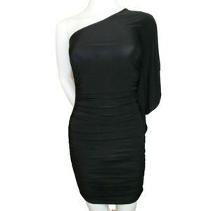 Akira Black One Shoulder Bodycon Dress Size S